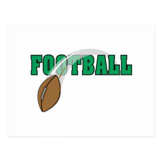 football swoop ball text graphic postcard