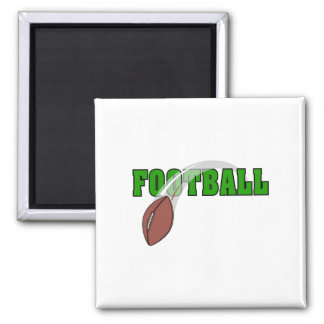 Football Swoosh Logo 2 Inch Square Magnet