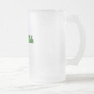 Football Swoosh Logo Frosted Glass Beer Mug