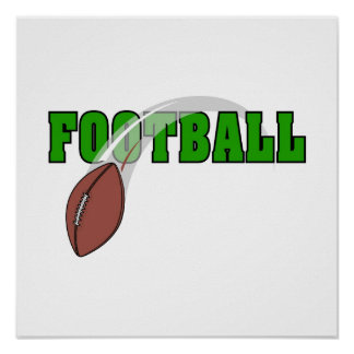 Football Swoosh Logo Poster