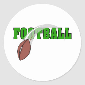 Football Swoosh Logo Classic Round Sticker