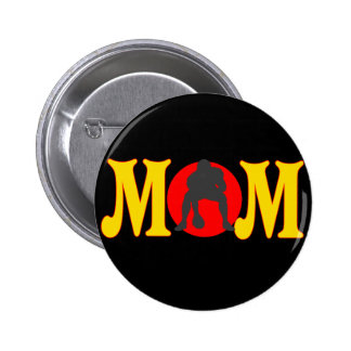 Football T-shirts and Gifts For Mom Button