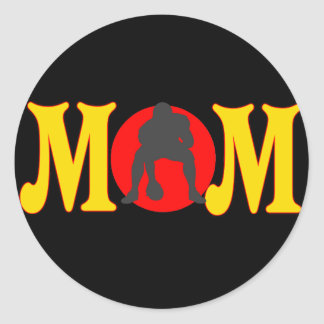 Football T-shirts and Gifts For Mom Classic Round Sticker