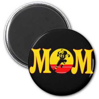 Football T-shirts and Gifts For Mom 2 Inch Round Magnet