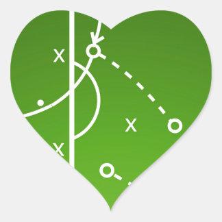 Football tactics board heart sticker