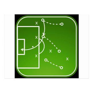 Football tactics board postcard