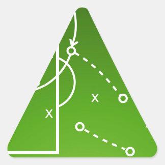 Football tactics board triangle sticker