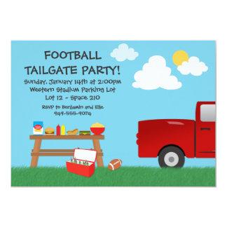 "Football Tailgate Party Invitation 5"" X 7"" Invitation Card"