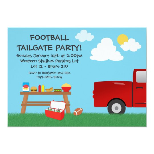 Football Tailgate Party Invitation Zazzle Com