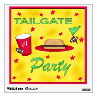 Football Tailgate Party Wall Decal Sign