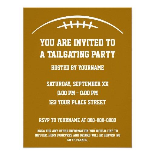 Tailgate Party Invitations is beautiful invitation ideas