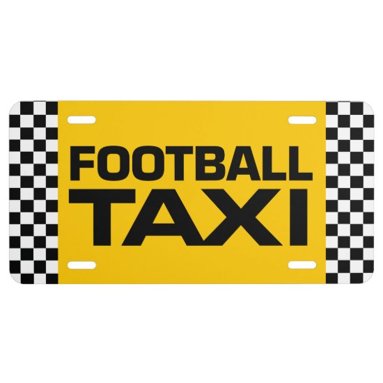 Football Taxi License Plate