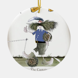 football team captain blues ceramic ornament