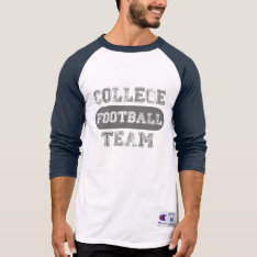 Football Team College T-shirt at Zazzle