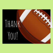 Football Team Custom Thank You Card