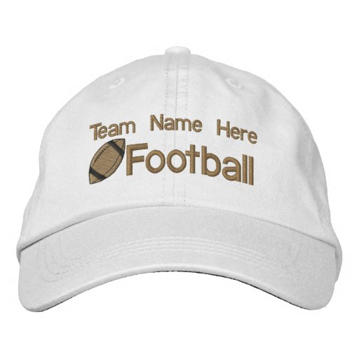 Football Team Embroidered Hat