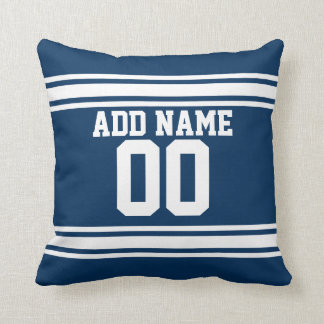 Football Team Jersey with Custom Name Number Pillows