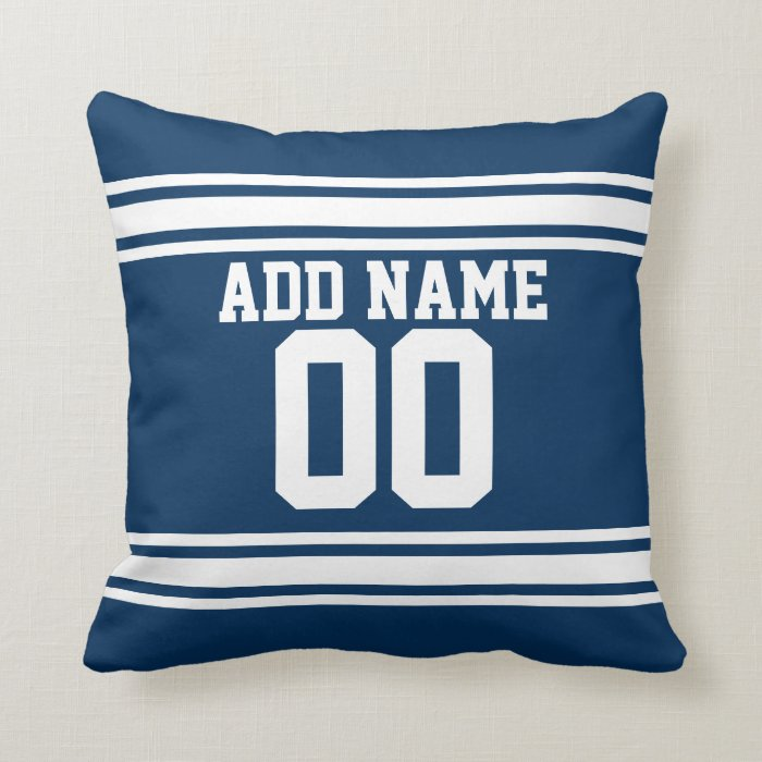 Throw Pillows With Numbers : Football Team Jersey with Custom Name Number Throw Pillow Zazzle