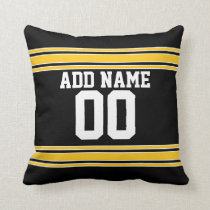Football Team Jersey with Custom Name Number Throw Pillow