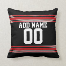 Football Team Jersey with Custom Number Throw Pillow