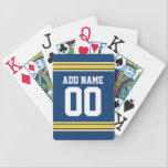 "Football Team Jersey with name and number Bicycle Playing Cards<br><div class=""desc"">Customize with your own name and number.</div>"