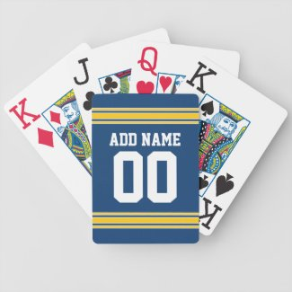 Football Team Jersey with name and number Card Decks