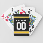 Football Team Jersey with name and number Card Deck