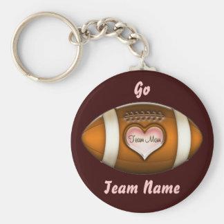 Football Team Mom Keychain