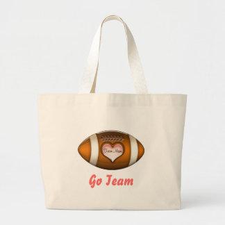 Football Team Mom Large Tote Bag