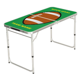 Football Team Name Tailgate Size Pong Table