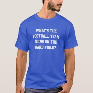 Football Team on Band Field Shirt Blue