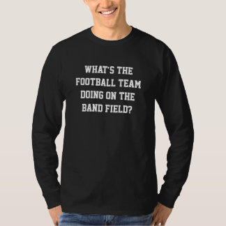Football Team on Band Field Sweater Tshirt