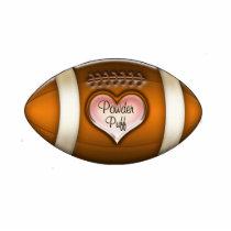 Football Team Powder Puff Ornament