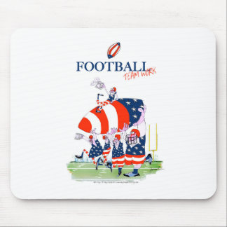 Football team work, tony fernandes mouse pad