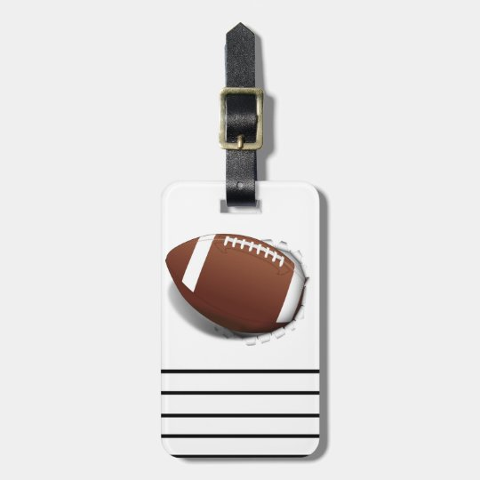 Football Tearing Out Bag Tag