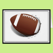Football Tearing Out Card