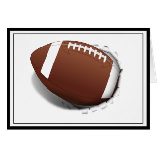 Football Tearing Out Greeting Card