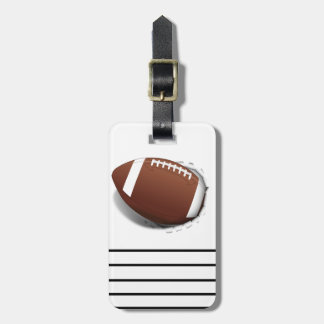 Football Tearing Out Luggage Tags