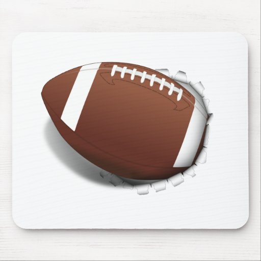 Football Tearing Out Mouse Pad