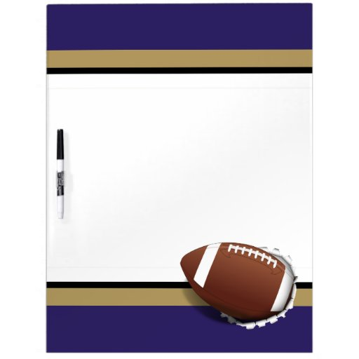Football Tearing Out -Team Colors - Gold & Black Dry-Erase Whiteboards