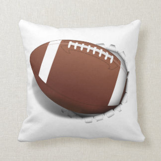 Football Tearing Out Throw Pillow