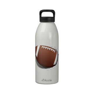 Football Tearing Out Reusable Water Bottles