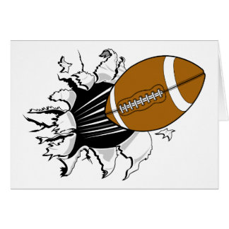 football tearing through graphic card
