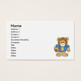 Football Teddy Bear Design Business Card