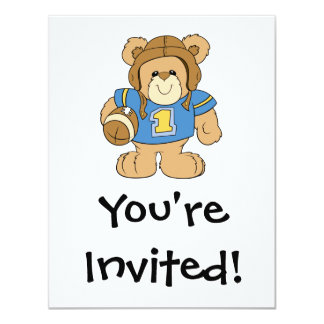 Football Teddy Bear Design Card
