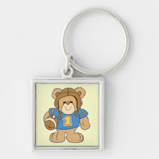 Football Teddy Bear Design Keychain