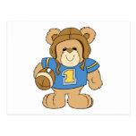 Football Teddy Bear Design Post Cards