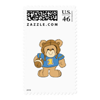 Football Teddy Bear Design Stamps