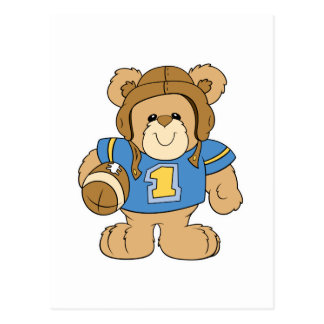 Football Teddy Bear Design Postcard