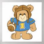 Football Teddy Bear Design Posters
